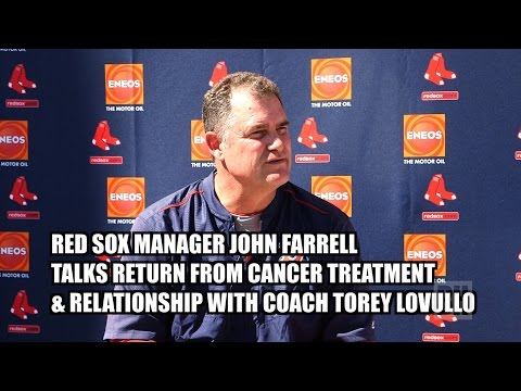 Red Sox Manager John Farrell Talks Cancer Treatment & Torey Lovullo