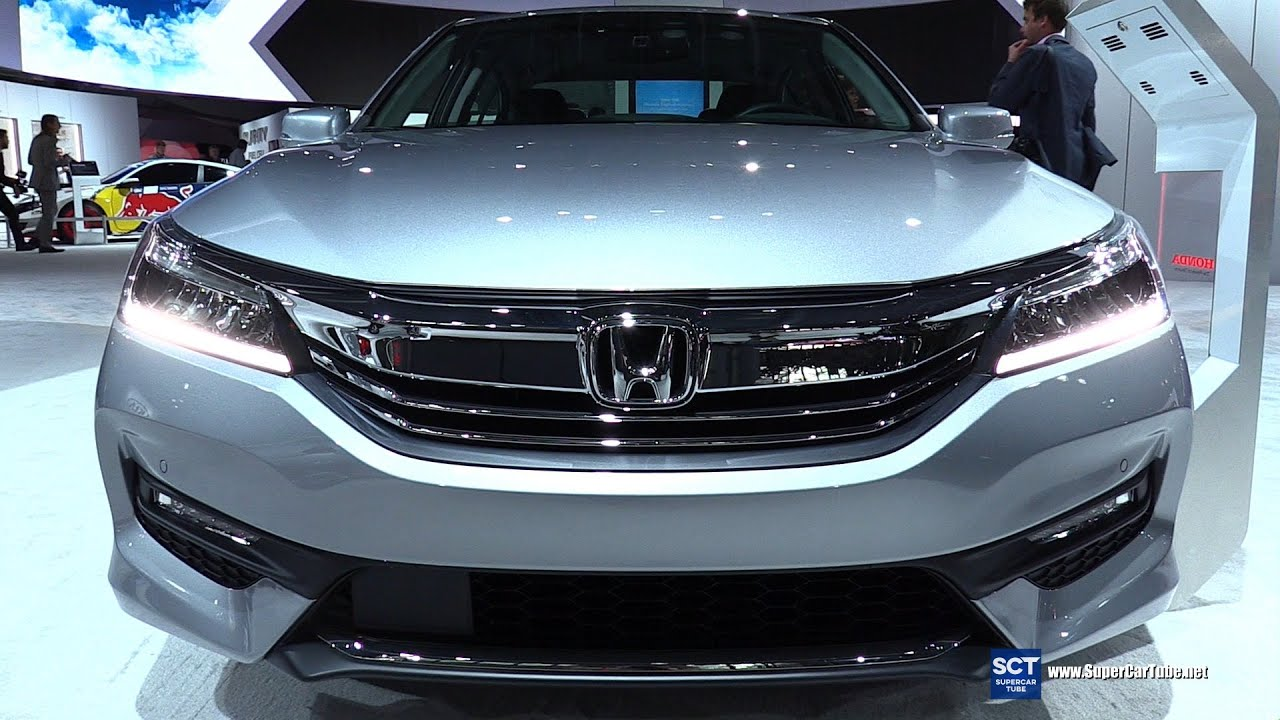 2016 honda accord v6 touring exterior and interior walkaround 2016 new york auto show youtube. Black Bedroom Furniture Sets. Home Design Ideas