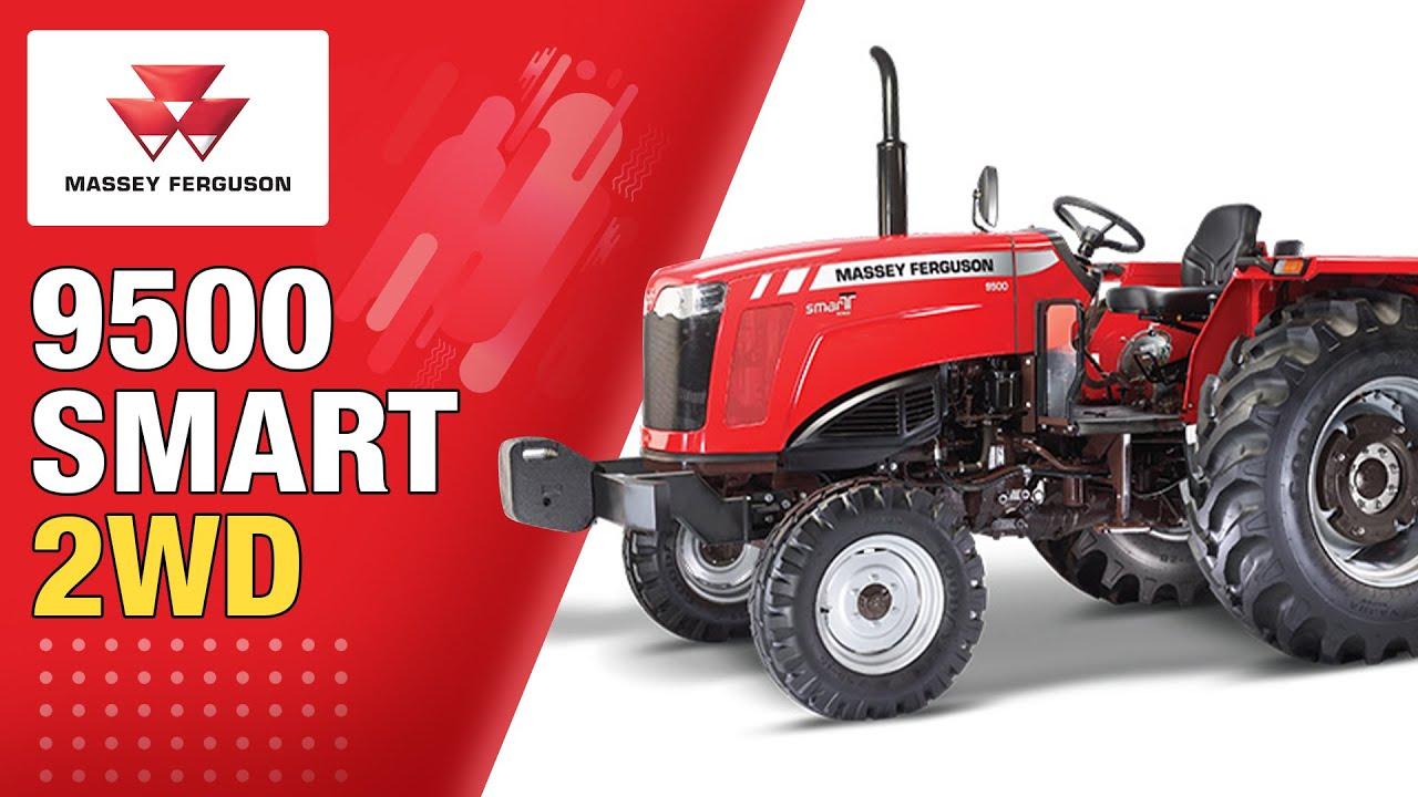 Massey Ferguson 9500 SMART 2WD + Hydraulic RMB Plough | Farmer Review - Hindi | 58 HP Range Tractor