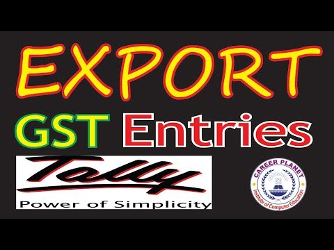 GST Export Sales Accounting Entries in Tally ERP9 Part-17|Export Invoice,LUT,BOND,Exempt sales