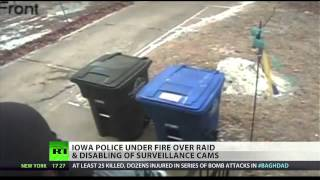 Iowa police raid terrified family