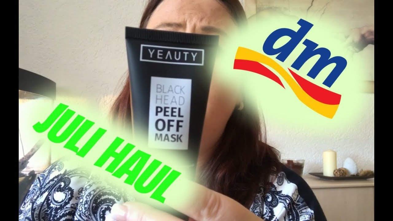 dm haul juli live test black head peel off mask frauwiesel youtube