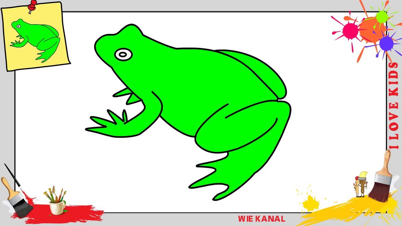 frosch malen kinder