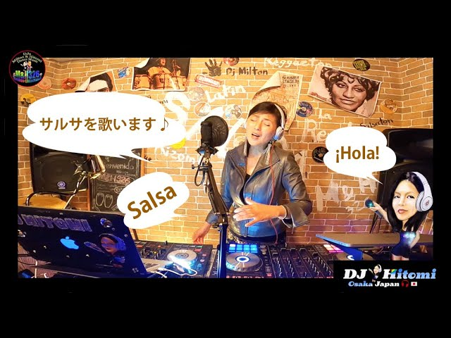 Lost On You Salsa / cover by DJ Hitomi Osaka Japan 🇯🇵ラテンソングを歌いました♪ぜひ見てね☺️