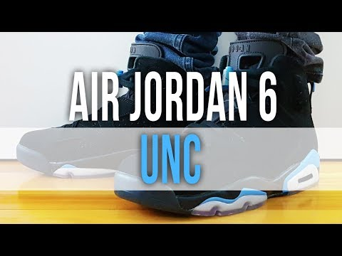 finest selection 00120 b3eb5 AIR JORDAN 6 RETRO UNC on Feet and Close Up