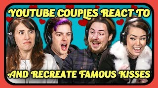 Subscribe to YouTubers in this episode: https://fbereact.com/2DBUfCv Famous kiss scenes recreated by YouTube couples. Original links below.  Join the SuperFam and support FBE: https://www.youtube.com/user/React/join SUBSCRIBE & HIT THE 🔔. New Videos 2pm PT on FBE: http://fbereact.com/SubscribeFBE What should we react to next?? https://fbereact.com/submit Watch More from FBE: http://fbereact.com/FBEallreactepisodes Watch More from React: http://fbereact.com/REACTallepisodes Join us LIVE on FBE2 every Tuesday and Friday at 3pm PST. Sign Up for Our Newsletter: http://fbereact.com/info  YouTube Couples react to and recreate famous kiss scenes, watch to see their reactions.  Content Featured: http://bit.ly/2S0UZ9h  http://bit.ly/2N1Zwrp  http://bit.ly/2GpazdC  http://bit.ly/2S3epKI  http://bit.ly/2TOzH0i  FBE's goal is to credit the original links to the content featured in its shows. If you see incorrect or missing attribution please reach out to credits@fbeteam.com  YouTubers Featured: Bryan & Missy Lanning http://youtube.com/dailyBUMPS  Arin Hanson & Mortem3r http://youtube.com/GameGrumps http://youtube.com/mortem3r  Gus Johnson & Abelina Sabrina http://www.youtube.com/gustoonz http://www.youtube.com/XxSabrinuhxX  Hannah Hart & Ella Mielniczenko http://youtube.com/Harto http://youtube.com/BUZZFEEDVIDEO  Jack & Erin Douglass http://youtube.com/jacksfilms http://instagram.com/2toesup  MatPat and Stephanie https://www.youtube.com/MatthewPatrick13 https://www.youtube.com/GTLive  Becky & Keith Habersberger http://youtube.com/TryGuys  MERCH 👕 https://www.shopfbe.com  Follow FBE: FBE WEBSITE: https://fbeteam.com/ FBE: http://www.youtube.com/FBE REACT: http://www.youtube.com/REACT FBE2: https://www.youtube.com/FBE2 FBELive: https://www.youtube.com/fbelive FACEBOOK: http://www.facebook.com/FBE FACEBOOK: http://www.facebook.com/FBEShows TWITTER: http://www.twitter.com/fbe INSTAGRAM: http://www.instagram.com/fbe SNAPCHAT: https://fbereact.com/snapchat DISCORD: https://fbereact.com/FBEdiscord TWITCH: https://www.twitch.tv/fbelive AMAZON: https://www.amazon.com/v/FBE ROKU: http://fbereact.com/FBERoku XUMO: https://fbereact.com/xumo  SEND US STUFF: FBE P.O. BOX 4324 Valley Village, CA 91617-4324  Creators & Executive Producers - Benny Fine & Rafi Fine VP Production - Nick Bergthold Head of Production - Harris Sherman Director of Production - Levi Smock Sr. Supervising Producer - Kyle Segal Creative Director - Derek Baynham Producers - Ethan Weiser, JC Chavez Jr. Producer - Vartuhi Oganesyan Associate Producer - Lauren Hutchinson Production Coordinator - Alberto Aguirre Jr. Production Coordinator - Kristy Kiefer Post Manager- Emily McGuiness Editor  Alyssa Salter Assistant Editor -  Nicole Worthington Studio Technician - Sam Kim Jr. Studio Technician - Oscar Ramos, Stephen Miller, Jayden Romero Production Assistant -  Kyllis Jahn, Micah Kearny, Stefan Fior, Laura Lareau, Edgar Plascencia, Ryan Johnson Set Design - Melissa Judson Music - Cormac Bluestone http://www.youtube.com/cormacbluestone  © FBE, Inc  YouTube Couples React & Recreate Kiss Scenes (The Office, Spider-Man, More)