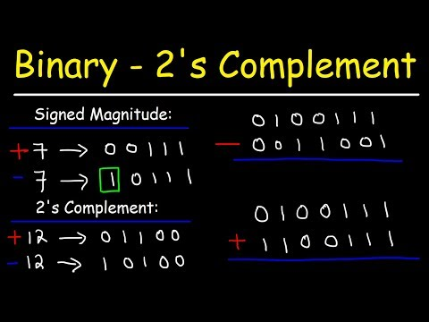 Binary Addition and Subtraction With Negative Numbers, 2's Complements & Signed Magnitude