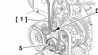 peugeot 406 1.9 td замена ремня генератора, ролика натяжителя, натяжителя (гитара, виброгаситель)