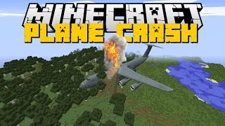 Minecraft: PLANE CRASH MOD (Helicopters, Planes, Boats Mod & MORE) Mod Showcase