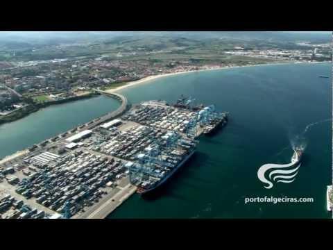 FLYING OVER THE PORT OF ALGECIRAS BAY