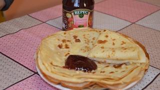 рецепт блины в бутылке на молоке Pancakes