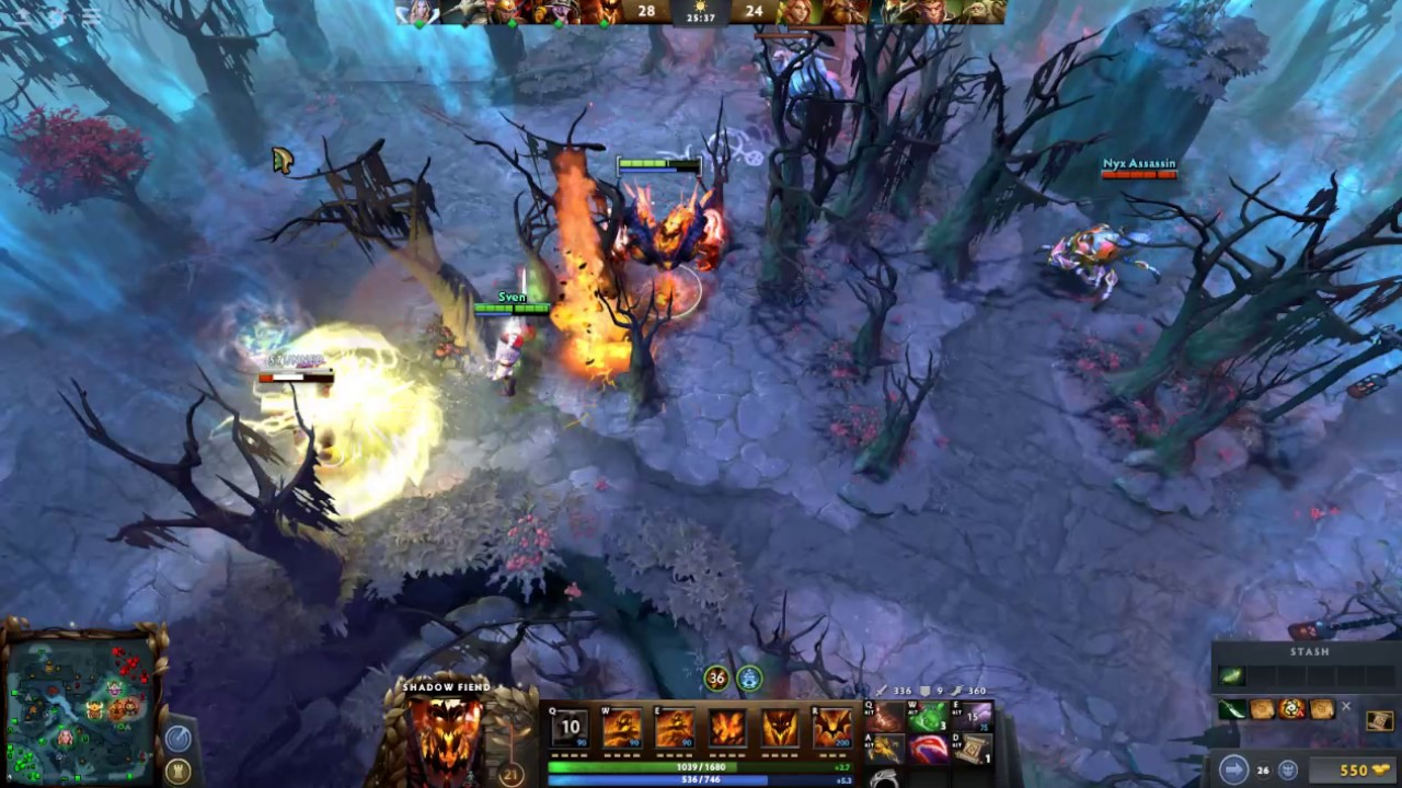 dota 2 7 00 patch shadow fiend gameplay youtube