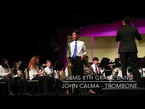 John Calma (Trombone) -  Seneca Ridge Middle School Band Concert - Spring 2018