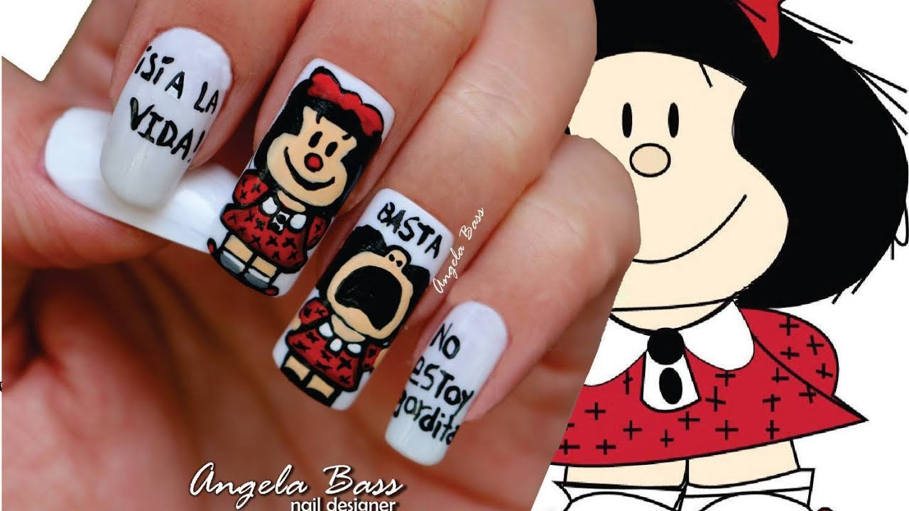 Uñas Decoradas Con Mafalda Mafalda Nails