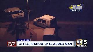 Chandler officers shoot and kill suspect armed with gun