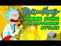 Rick and Morty - Theme song - METAL/PUNK JAZZ FUNK SURF