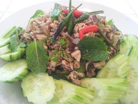C/w Nana: Lao Minced Chicken Salad (ລາບໄກ່ = Larb Gai)