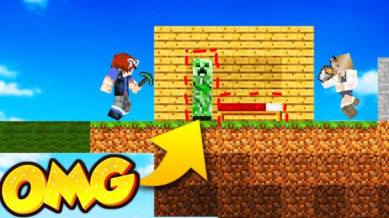 Creeper Pułapka Troll W Minecraft Bed Wars Vito Vs Bella Youtube