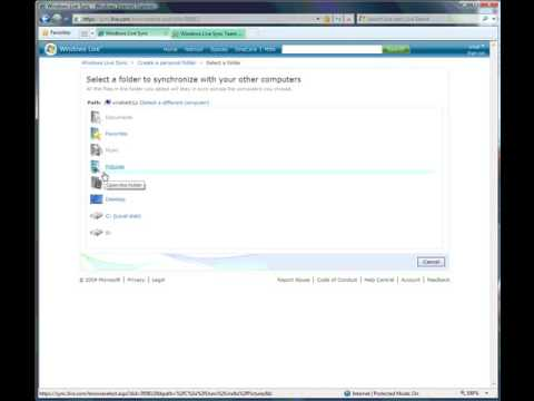 Backing Up and Syncing with Windows Live Sync