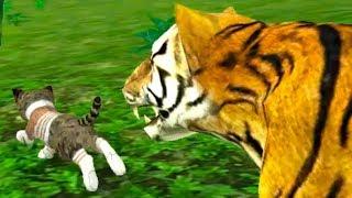 СИМУЛЯТОР Маленького КОТЕНКА #25 ЧЕЛЛЕНДЖ котов и диких кошек Challenge - кто круче #ПУРУМЧАТА