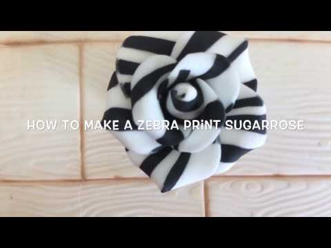 How To Make A Zebra Print Sugar Rose