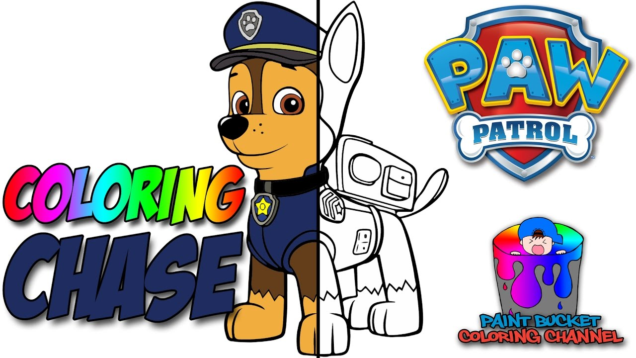 paw patrol chase coloring page nickelodeon nick jr coloring