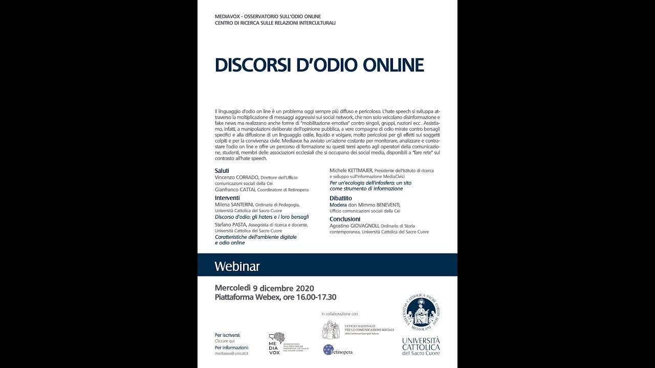 Mediavox presenta: Discorsi d'odio online