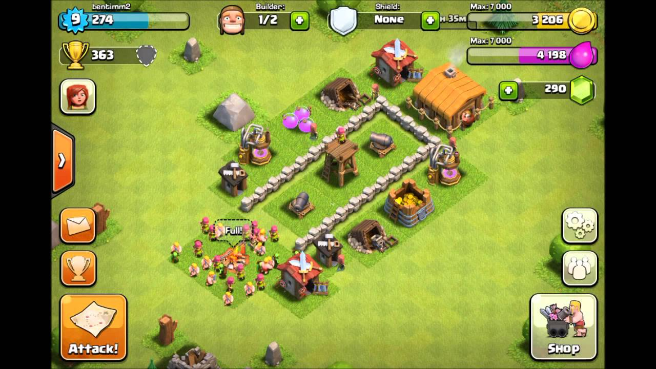 Best Th 2 Base Coc 1