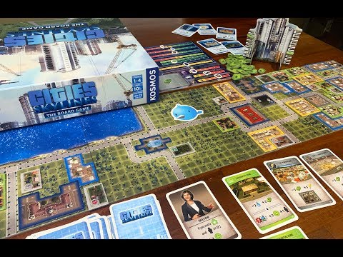 Dga Plays Board Games Cities Skylines The Board Game Youtube
