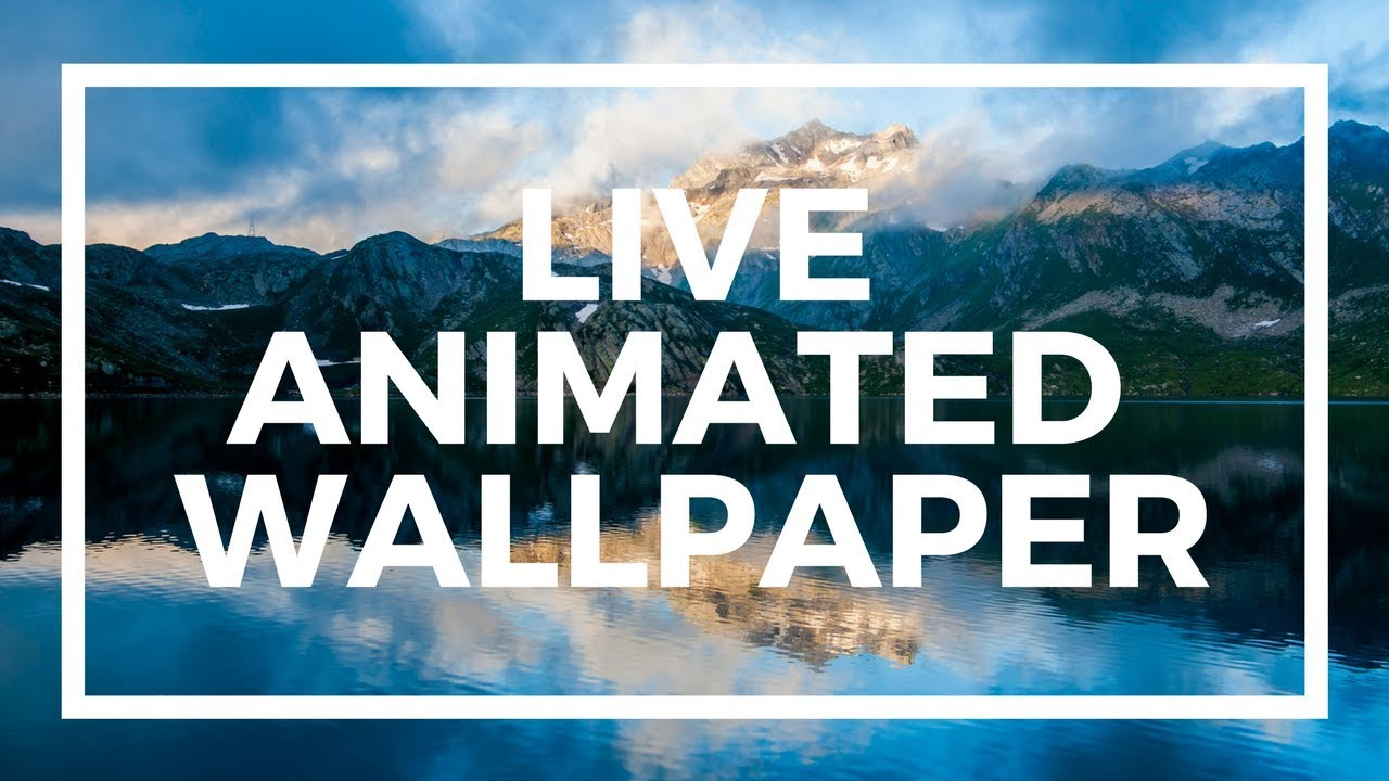 Set Live Wallpapers Animated Desktop Backgrounds in Windows 10 Version 6 - YouTube