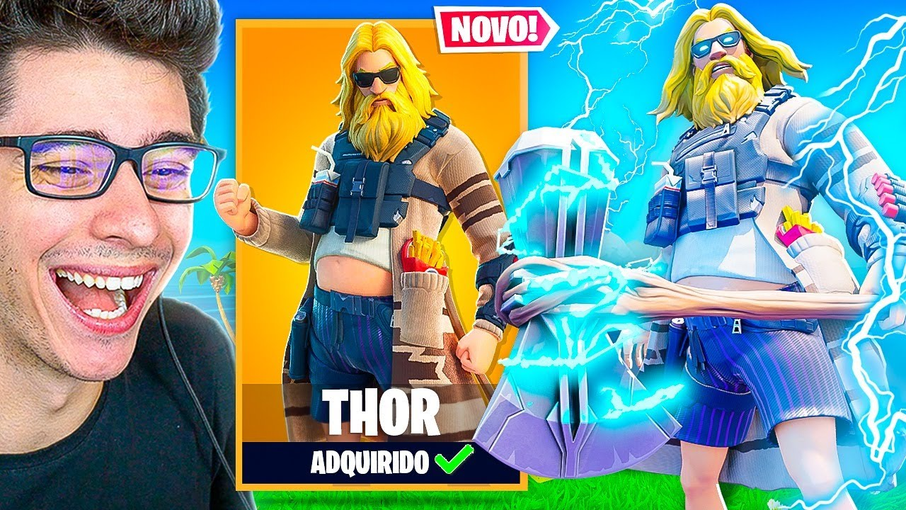 *NOVA* SKIN DO THOR CHEGOU AO FORTNITE!!! MARVEL!!