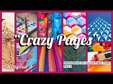 """""""Crazy Pages"""" Int'l Art Journal Pages Tutorial (PART 2) [CC]"""