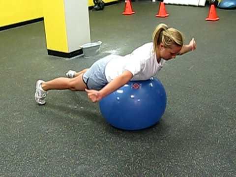 Stability Ball Y, T, W - YouTube