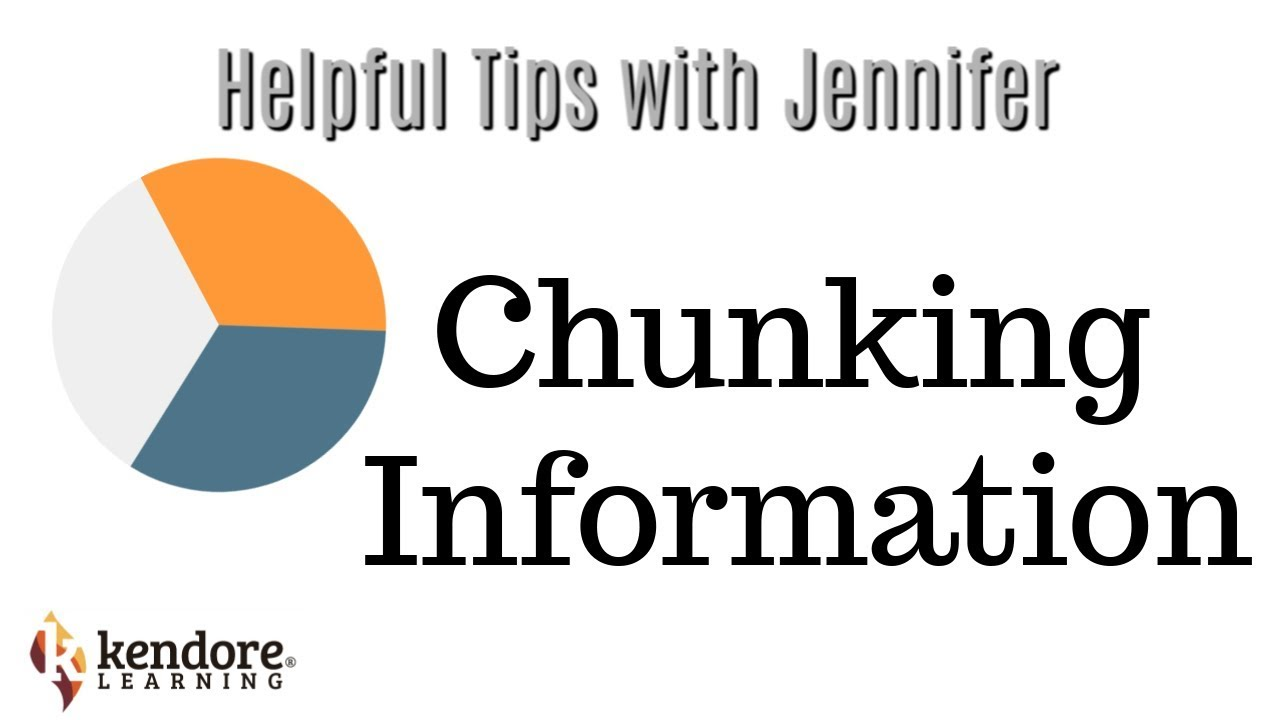 Chunking Information Helps Students Remember What They Learn