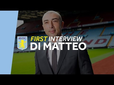 Roberto Di Matteo's first interview as Aston Villa manager
