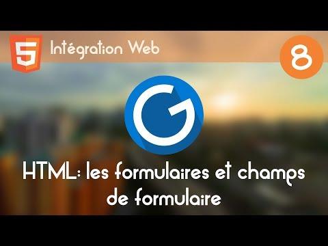 Intégration Web 8 - Les formulaires et champs de formulaire