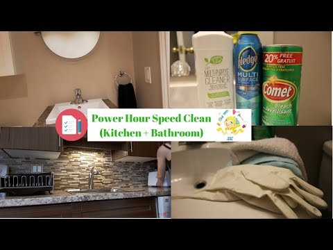POWER HOUR CLEAN WITH Music | SPEED CLEANING MOTIVATION SAHM
