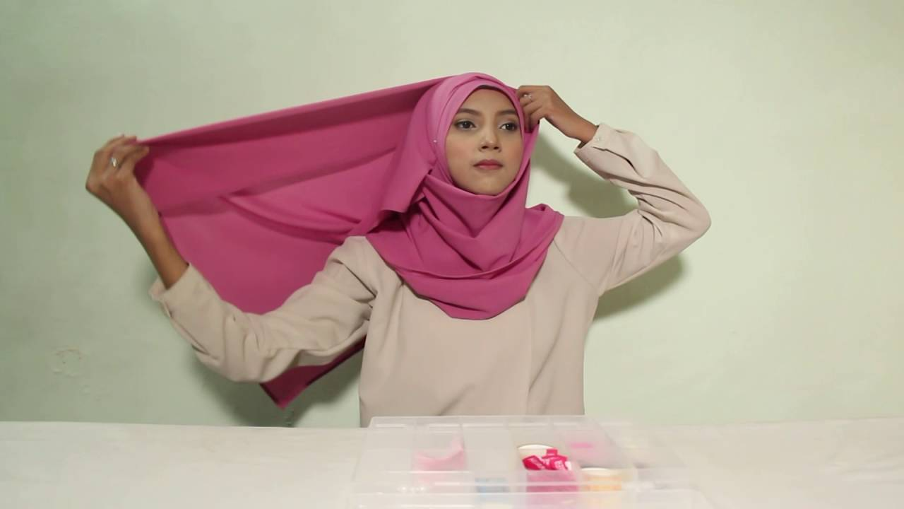 09 Tutorial Jilbab Pashmina By Hijabeer Diamond Italiano YouTube
