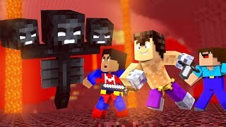 MINECRAFT CON NOOBS - INVOCAMOS AL WITHER ¿SALDRA BIEN?