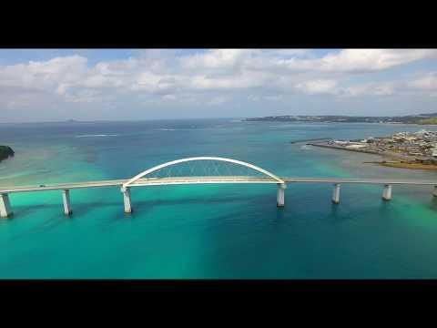 [4K] アンチ浜から瀬底大橋 Drone Footage   okinawa islands Japan 沖縄 ドローン