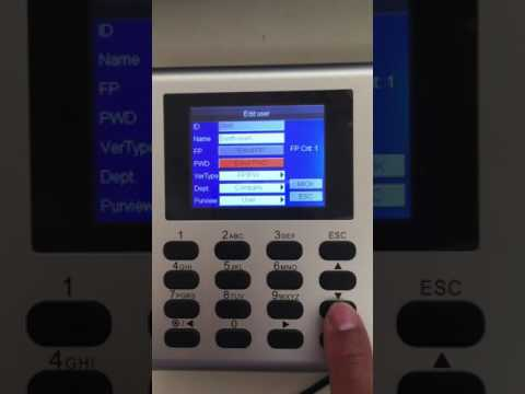 How To Setup Fingerprint Device Enroll, ZKTeco Time And Attendance Software part2