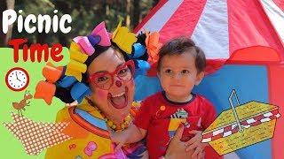 Picnic en el bosque con la Payasita Trencitas y el bebé  Video para niños en Español