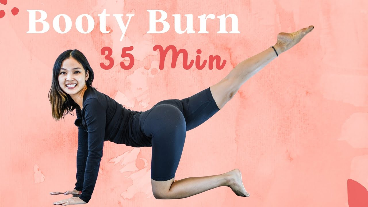 35 Min Thighs & BOOTY BURN Workout   No Equipment