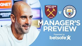 West Ham v Man City | Pep Guardiola press conference, Part 1