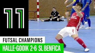 Futsal Champions League: Halle-Gooik 2 - 6 SL Benfica