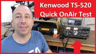 Kenwood TS-520 Ham Radio On Air Test - Monitoring Through a Web SDR / KiwiSDR