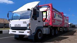 ETS 2 | Isuzu Giga 6 x 4 Trailer Aviation Pertamina 30 Ton Kudus - Purwodadi