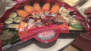 Японские суши и роллы(Мы с Сергеем пробуем разные суши и роллы. Я первый раз ем такое и это получилось очень интересно и вкусно...., 2014-09-14T18:45:46.000Z)