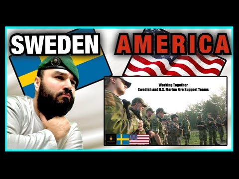British Marine Reacts To Swedish and U.S. Marine Fire Support Teams train together in Sweden
