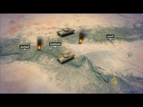 خريطة المعارك والتشكيلات العسكرية في محيط الفلوجة